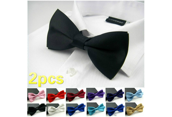 20 Colors Hot Novelty Wedding Party Polyester Bowtie Noeud Papillon Men Women Bow Tie Solid Color