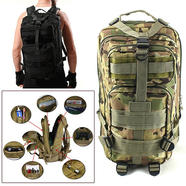 UPUP 1000D Nylon 30L Waterproof Outdoor Military Rucksacks Tactical ... 33c7ba9943eac