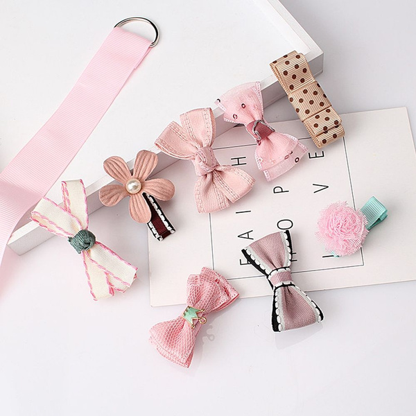 ribbonbowbarrette, infanthairpin, Fashion, Lace