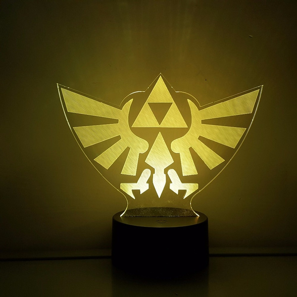 Wish The Legend Of Zelda Led 3d Table Lamp Nightlight Rgb Color