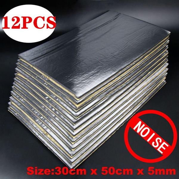 12 Sheets Car Van Sound Proofing Deadening Mat Insulation Closed Cell Foam  5mm Car Accessories