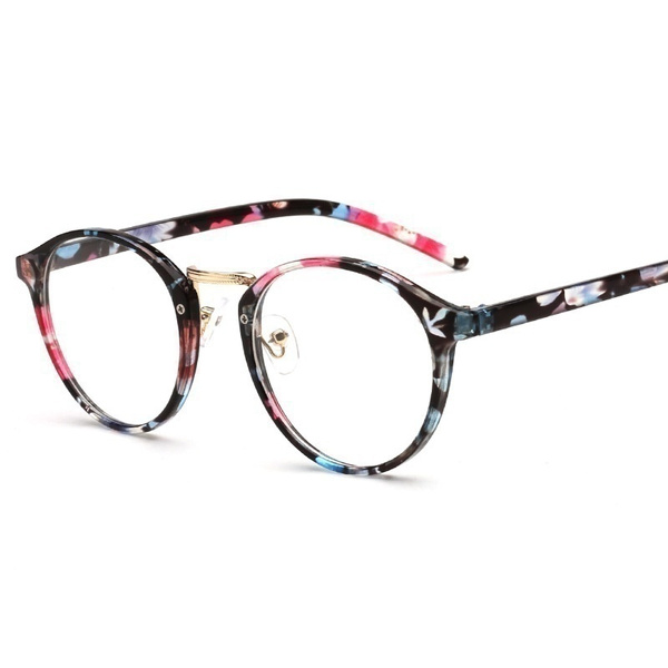 Wish | Retro Girl Lady Round Frame Eyeglass Women Men New Ultra ...