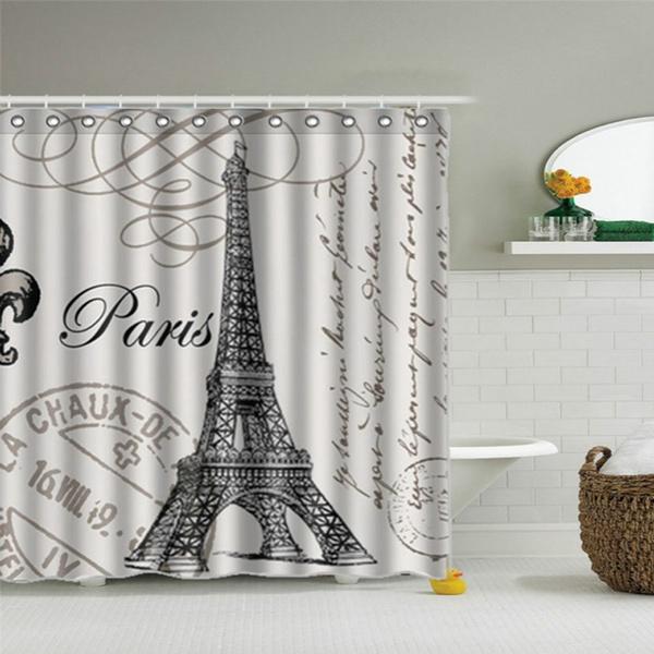 Eiffel Tower Waterproof Shower Curtain