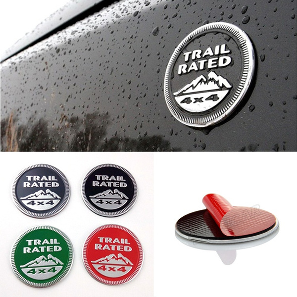 Metal Trail Rated 4x4 Emblem Badge for jeep Wrangler Cherookee Patriot Compass