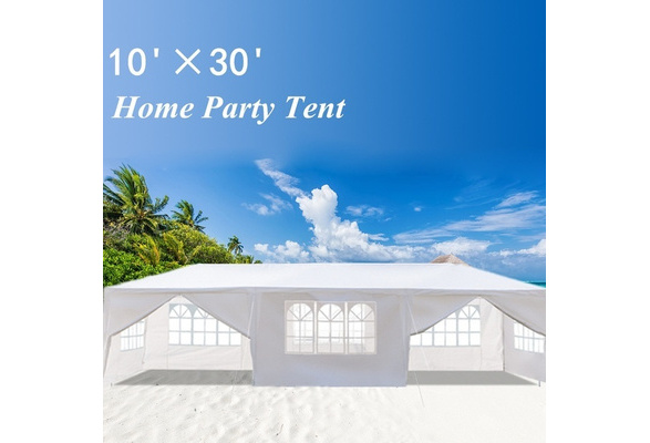8 Side Walls 10'x30' Outdoor Canopy Party Wedding Tent White Gazebo Pavilion