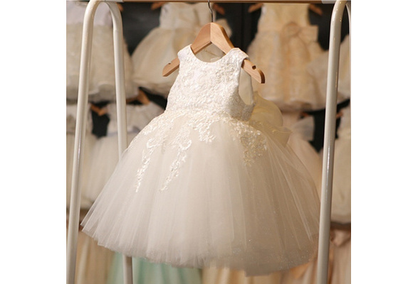 Kids Baby Summer Lace Dress Tulle Floral Wedding Party Dress