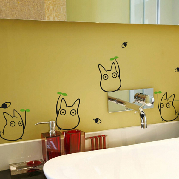 Marvelous Wish | Totoro Wall Sticker Kids Bedroom Decor Japanese Cartoon Animation Wall  Decals