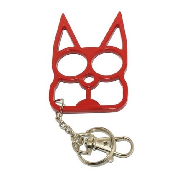 Ku009 Rd Cat Self Defense Keychain Red Geek