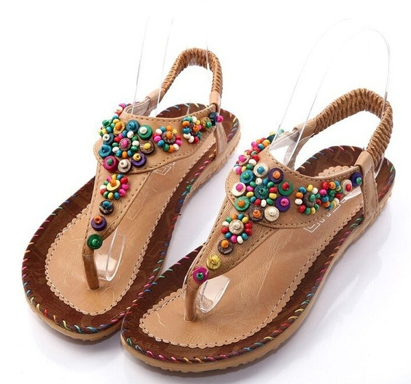 6a295c4c2 Women s Fashion High Quality Summer New Brand Sweet Casual Beaded ...