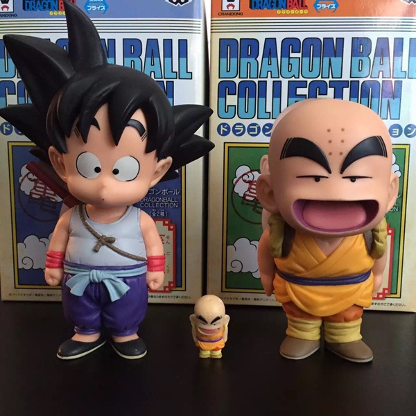 New Banpresto Doll Dragon Ball Z Son Gokou Krillin Action Figure Dragonball Goku Krillin Model Toy Dbz Kuririn Figure Kids Gift
