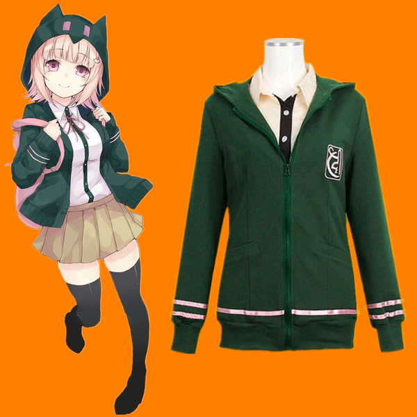 Dangan Ronpa Super Danganronpa 2 Chiaki Nanami Cosplay Costume Hoodie Coat