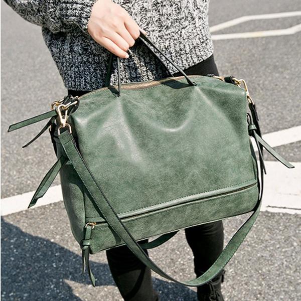 Vintage Ladies Shoulder Bag Nubuck Leather Bag Retro Motorcycle Women/'s Bag
