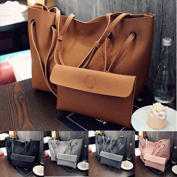 Picture of 2 Pcs/set Women Bags Large Capacity Storage Bag Crossbady Ladies Tote Combination Messager Bag
