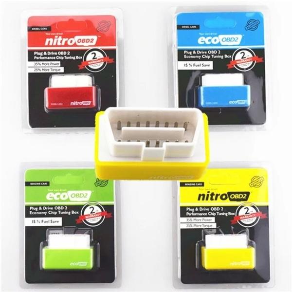 Hot OBD2 Performance Tuning Chip Box For Saver Gas//Petrol Vehicles Plug /& Drive