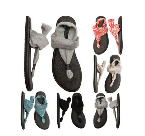 Picture of Fashion Women Summer Casual Comfortable Yoga Sandals Sexy Flat Flip Flops Shoes
