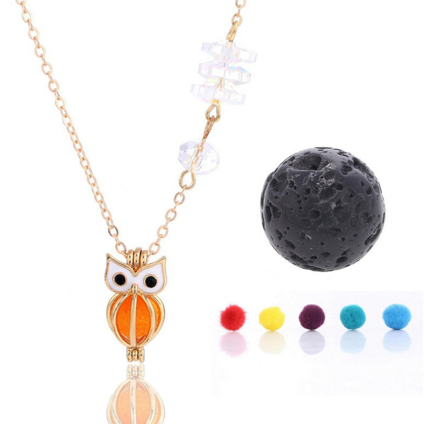 937d8c489621fc Openable Locket Fashion Owl Shaped Pendant Hand Jewelry Accessories ...