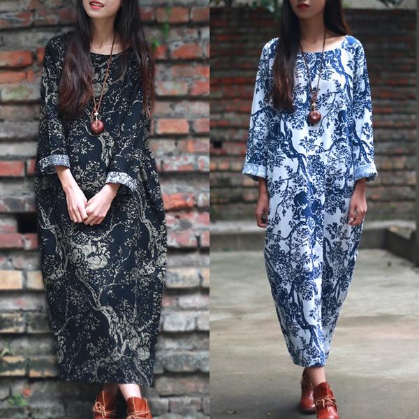 vintagecotton, Fashion, Floral print, Sleeve