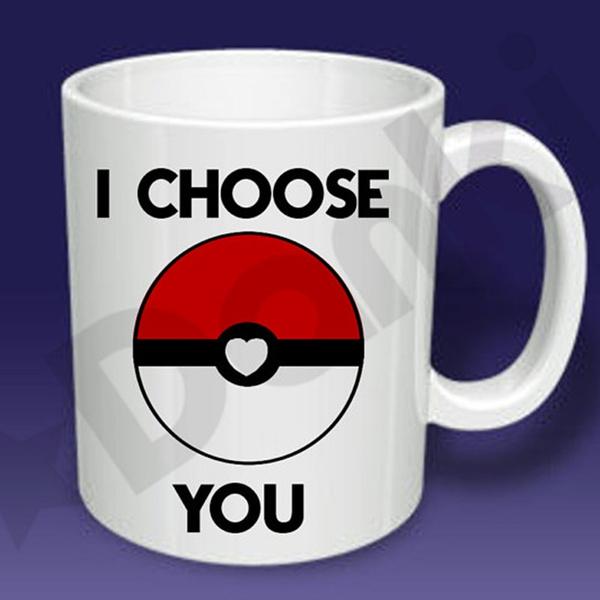 I Choose You Pokemon Heart Pokeball Mug