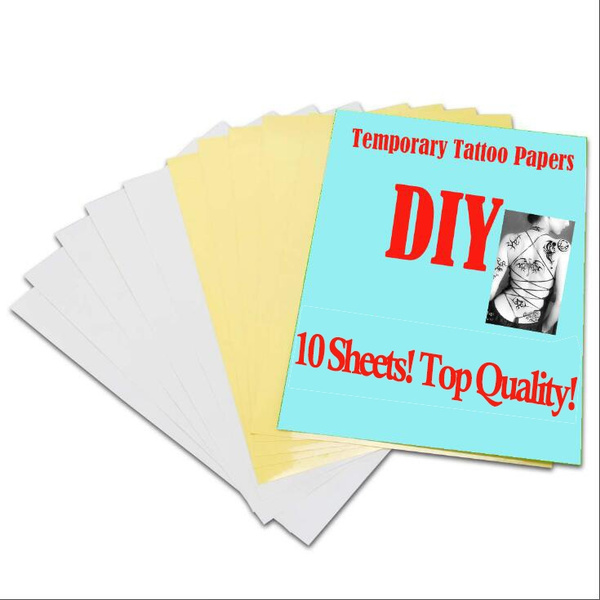 image relating to Printable Tattoo Paper referred to as Do it yourself Momentary Tattoo Go Paper Printable Stencil Papers A4 Sizing for Inkjet Printer 10 Sheets