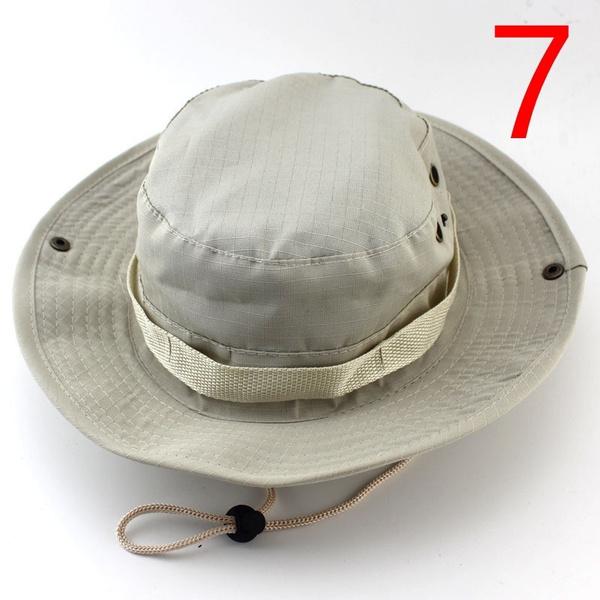 5da7cc8da Camouflage Bucket Hats Wide Brim Sun Cap Ripstop Camo Fishing Hunting  Hiking Men Safari Summer Jungle with String Boonie Hat