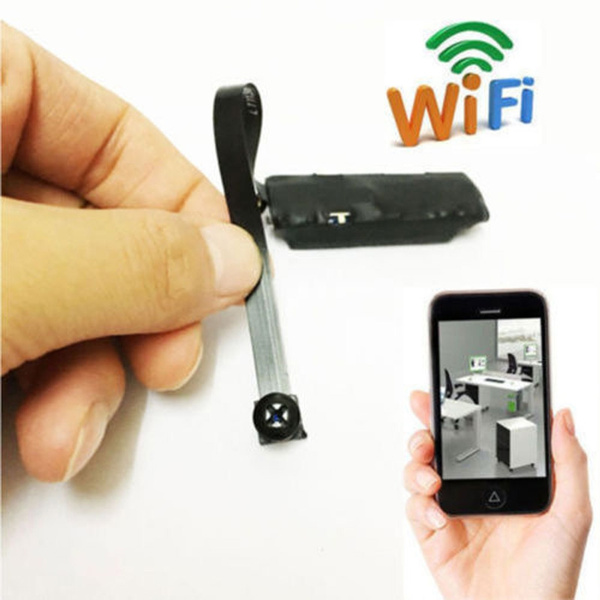 Picture of Wireless Creative Spy Nanny Cam Wifi Ip Pinhole Diy Digital Video Camera Mini Micro Dvr Color Black