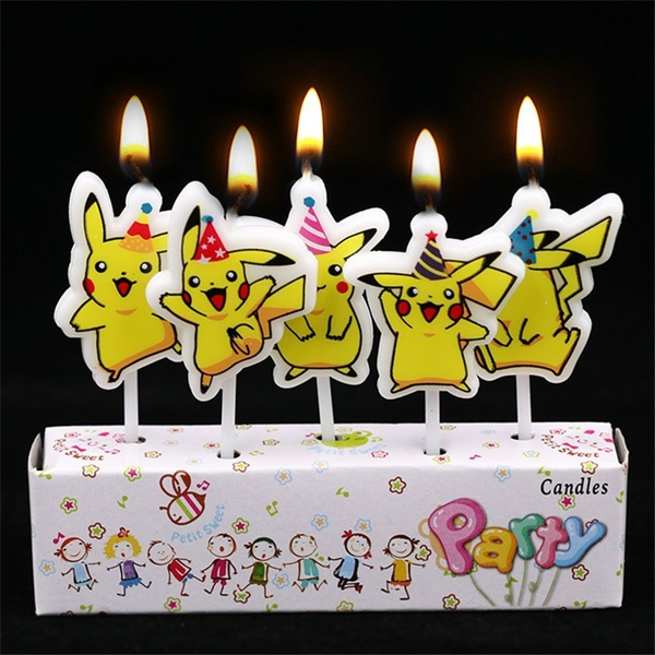 Wish 5pcsset Happy Birthday Candles Decorations Children Lovely