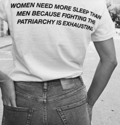 c7cabb9dc Women Nees More Sleep Than Men Back Print Quotes Feminism T-Shirt ...