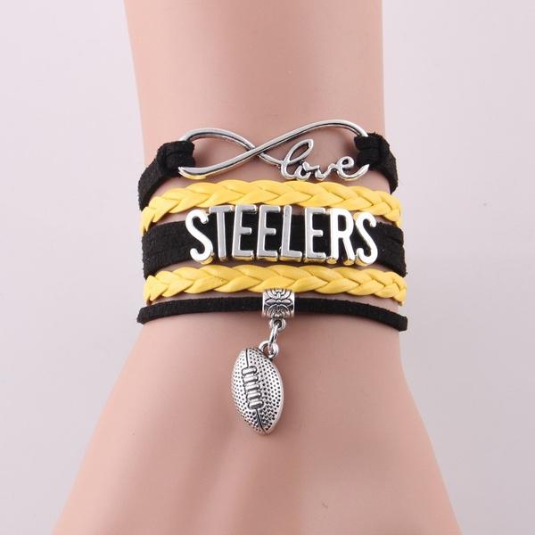 Charm Bracelet, Pittsburgh Steelers, Jewelry, Pittsburgh