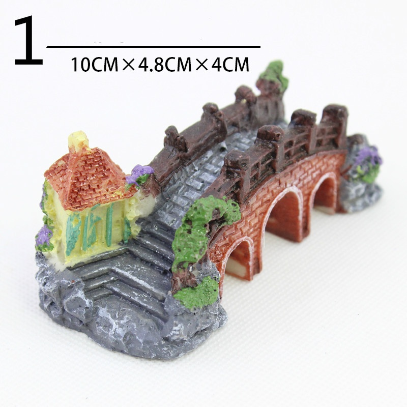 Bridge aquarium resin fish tank decoration ornament for Aquarium bridge decoration
