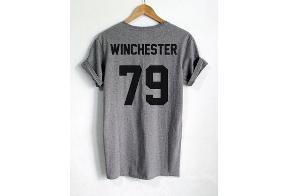 Supernatural Shirt Dean Winchester Shirt WINCHESTER 79 back Letters Print Women TShirt Casual Cotton Funny Tshirt LW
