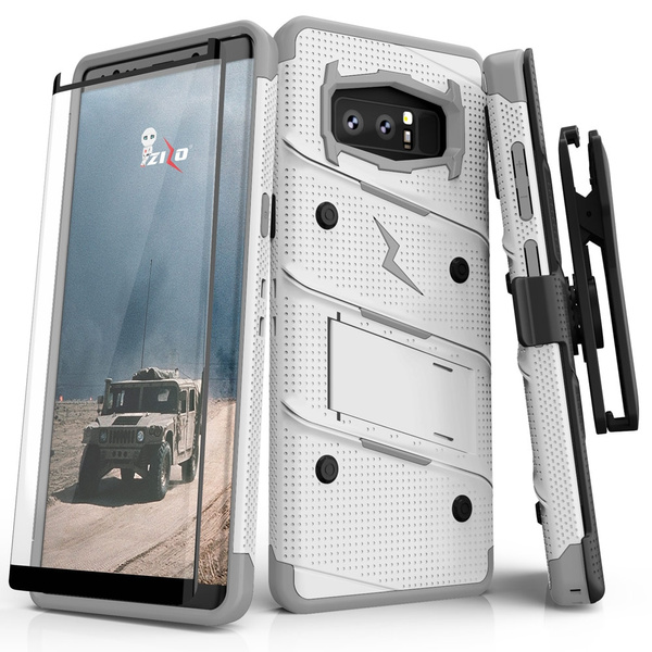 new product 74605 f650a Galaxy Note 8 / S8 / S8 Plus Case, Zizo Bolt w/ Screen Protector and Holster