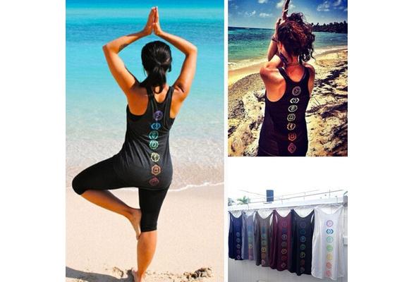 6 Colors Women Sleeveless Tank Top Beach Wear Casual O-Neck Cotton Printed Tops