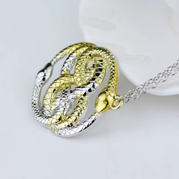 Wish movie the neverending story necklace never ending auryn wish movie the neverending story necklace never ending auryn ouroboros snakes pendant necklace for women fashion jewelry accessories mozeypictures Choice Image