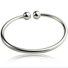 Sterling, beadbangle, openedcuffbangle, Jewelry