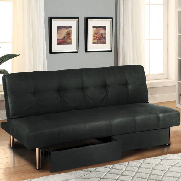 Microfiber Futon Folding Sofa Bed Couch