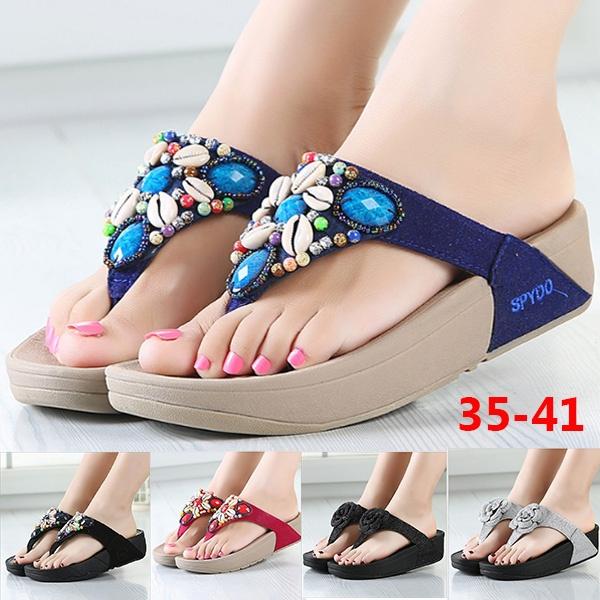 3066e8b1c7f5 Big Size Breathable 8 Colors Summer Women s Fashion Beach Flip Flops ...