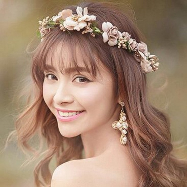 hairwreath, Floral, Beauty, Bride