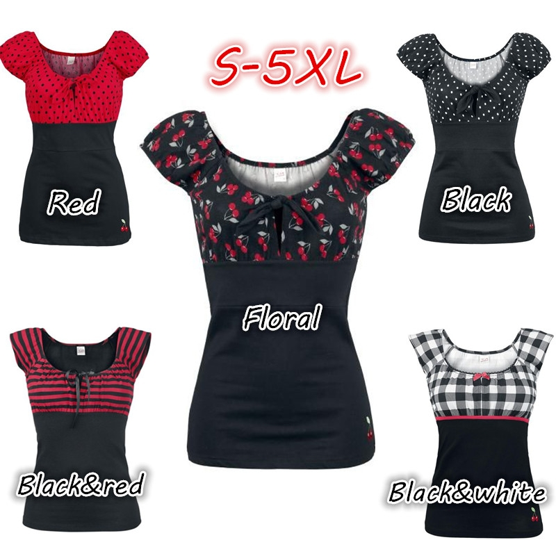 0aa1078888e Plus Size Scopp Neck Short Sleeves Patchwork Sexy Bodycon T-shirt Tops
