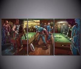 Decor, avengerscaptainamericabilliard, Home Decor, art