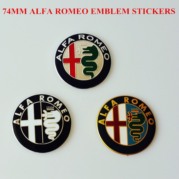Wish 74mm Car Logo Emblem Badge Sticker For Alfa Romeo Mito147 156