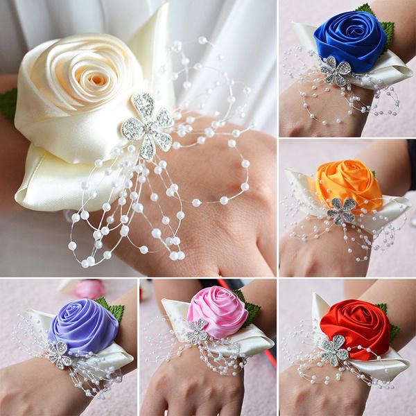 Bridesmaids Bridal Corsages 1pc Flowers Wedding Wrist Bouquets Bride