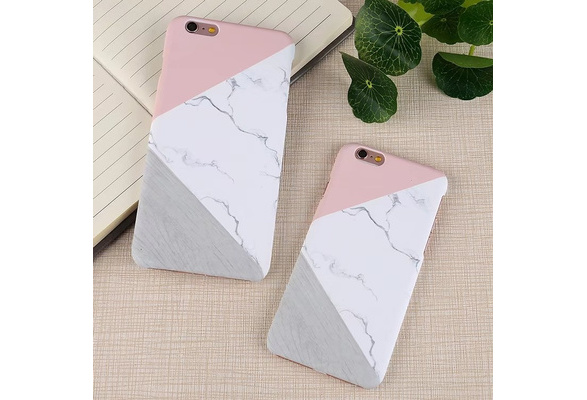 Top Quality Geometric Marble Pattern Hard PC Hard Phone Case for IPhone 6 6Plus 6s 6s Plus 7 7Plus 8 8plus