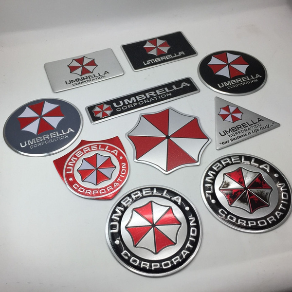 3d Metal Resident Evil Umbrella Corporation Sticker With Self Adhesive