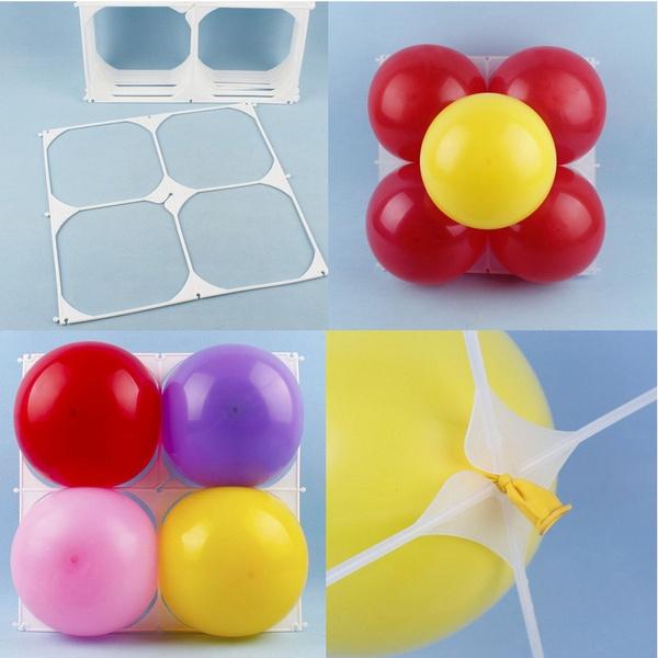 Wish | 5Pcs Square 4 Balloons Grids Holder Modeling Birthday Wedding ...