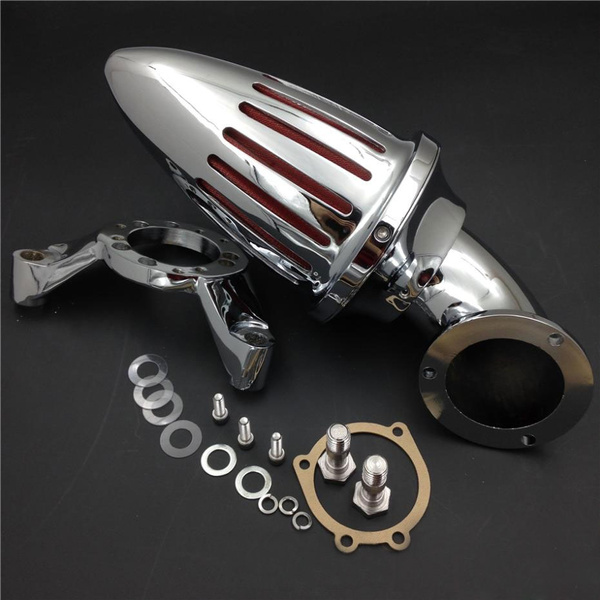 Chrome Bullet Air Cleaner intake Filter Kit For Harley-Davidson CV  Carburetor Delphi V-Twin