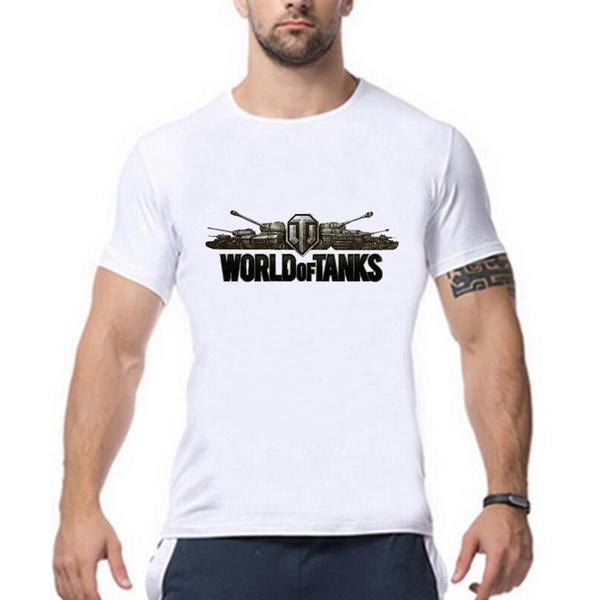 b915a26f4 2017 Summer Style Funny World of Tanks T Shirt Men Manufacture World War Ii  Tank Tshirt Men Casual Short-sleeve Top Tees   Wish