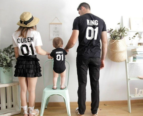 Family, Fashion, Cotton T Shirt, letter print