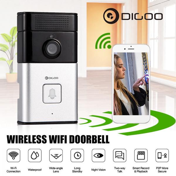 Digoo DoorBell WIFI Wireless Video Camera Viewer Door Phone Ring Bell Alarm  Home Security