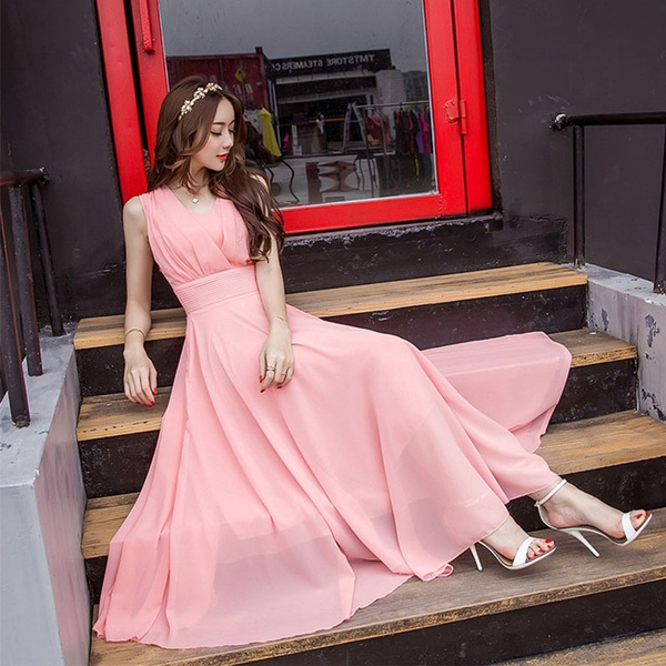 Summer, Fashion, chiffon, long dress