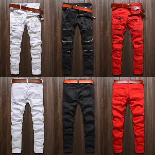 pants, biker, Slim Fit, Men's Fashion